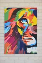 """Авторское Картина """"Радужный лев""""(копия графики Ваю Ромдони)"""