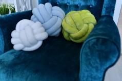 Авторское Декоративная подушка-узел. Knot1 .Большой тройной узел