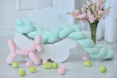 Авторское Декоративная подушка-коса. Коса-бортик.Защита(бампер) для детской кроватки