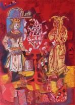 """Авторское Картина Гайрата Байматова """"Карточный домик-1"""""""