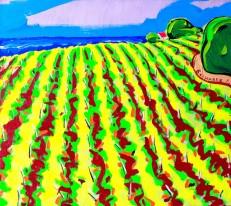 """Авторское Картина Ленура Велиляева """"Конопляное поле (Виноградники)"""""""