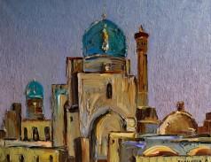 "Картина Ленура Велиляева ""Бухара. Минарет и мечеть Калян """