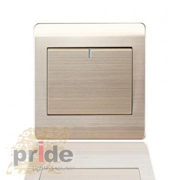 Pride А66 1K одноклавишный выключатель с LED индикатором