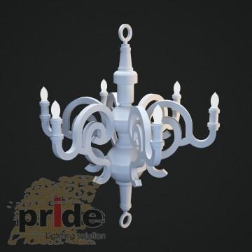 Pride Люстра 91023 white ( дерево )
