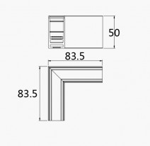 Pride Угловой соединитель 90° для магнитной системы MG 25-71 white