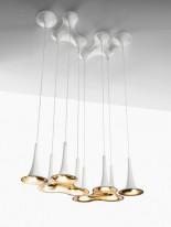 Подвесной светильник  89923P/1 white+gold