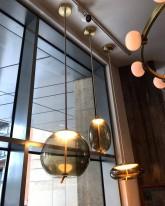 Подвесной светильник  89966P/C gold+smoky