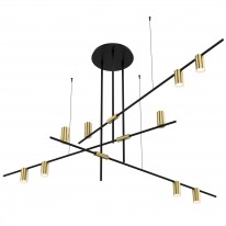Светильник подвесной D81207-9 gold