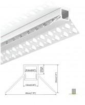 Pride Внешнийугловойсветодиодныйпрофиль ALP7070-R