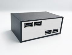 Блок USB 39  black&chrome