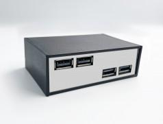 Блок USB 27 black&chrome