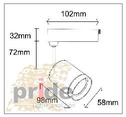 WEST LIGHT Светильник на трек шину WL71010