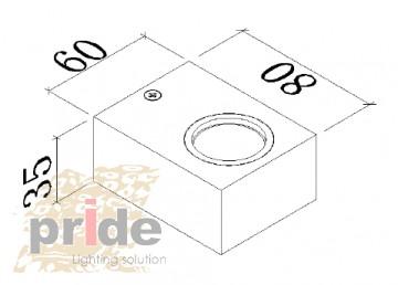 Pride  Настенный светильник WL-CM02S60l