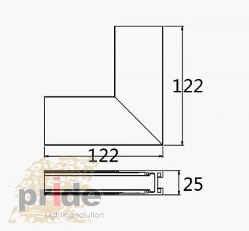 Pride Угловой соединитель для магнитной системы MG 25-72