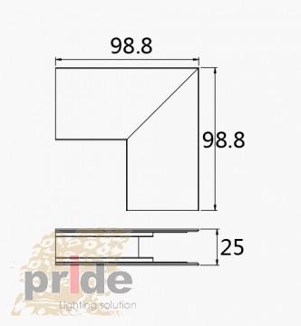 Pride Угловой соединитель для магнитной системы MG 25-73 white