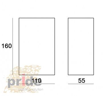 Pride Настенный гипсовый светильник 70021