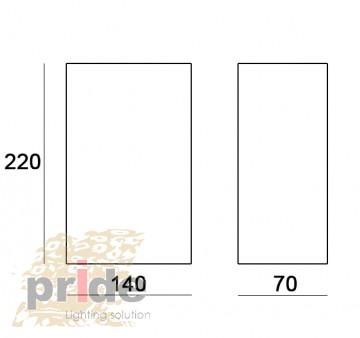 Pride Настенный гипсовый светильник 70023