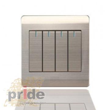 Pride A66-K04В Четырехклавишный  проходной выключатель