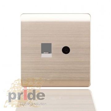 Pride Телефон розетка/TV розетка A66-E0103