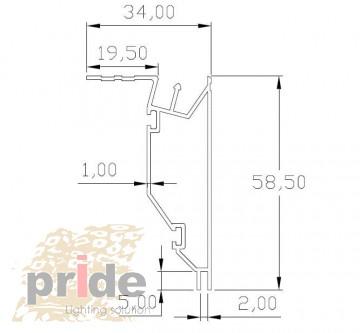 Pride Профиль под натяжной потолок 27-1000