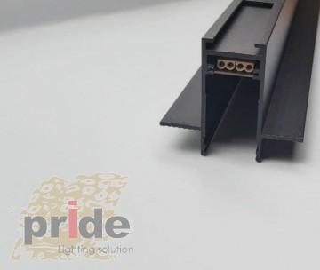Pride Магнитная шина  MG E727R New 1m под гипсокартон Black