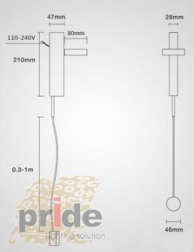 Pride Настенный светильник 5B2020 Gold